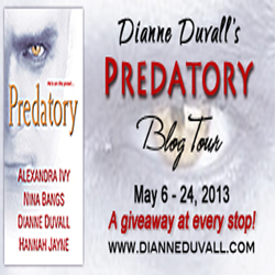 Predatory Tour Stop: Character Interview, Review and Giveaway with Dianne Duvall