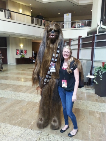 Me and CHEWBACCA.