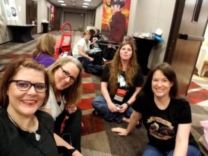 Melanie with Felicia, Mary and Beth #RT17
