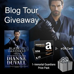 $50 & $25 Amazon GC + Immortal Guardians Prize Pack